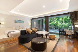 Pool suite room Watermark hotel bali