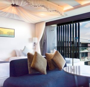 Suite with canopy watermark hotel spa bali